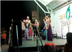 Beauty pageant on stage at the 2010 Fall Festival