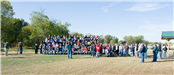 Gathering of people at Coweta Archery Park