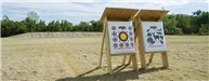 Two archery target stands
