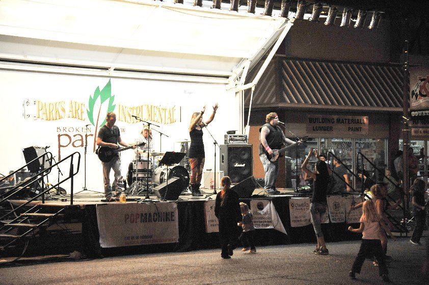 Band on stage at the 2012 Fall Festival 2