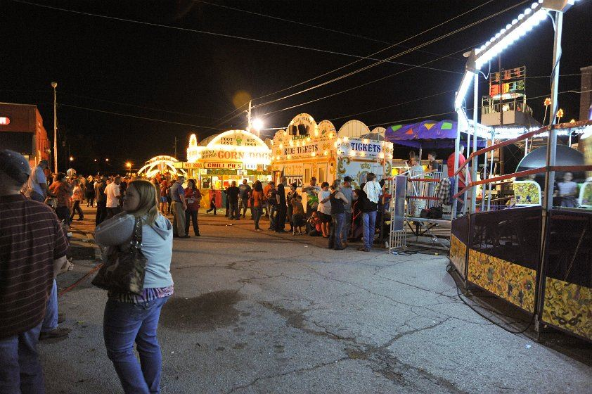 Crowd in lines for concessions and tickets at the 2012 Fall Festival