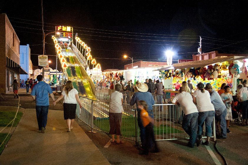 Crowd watching the Fun Slide at the 2012 Fall Festival