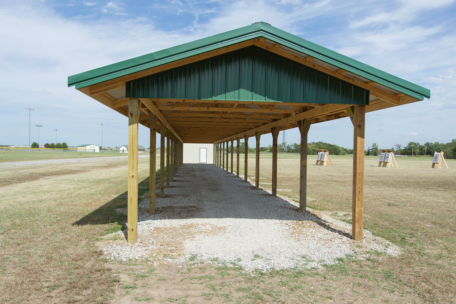 Archery shooting pavilion