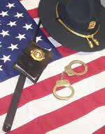 Hat, Handcuffs, and American Flag