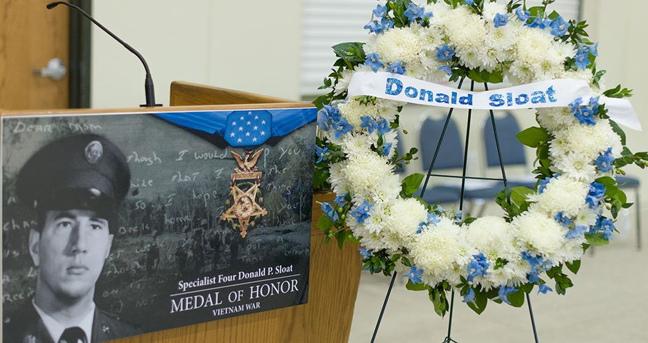 Specialist Four Donald P. Sloat Medal of Honor Vietnam War