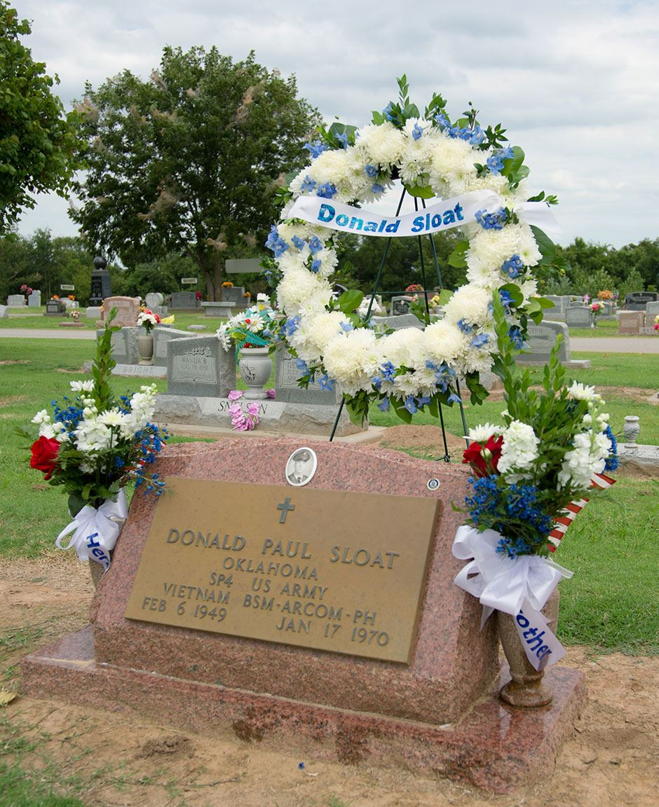 Donald P. Sloats Memorial in Vernon Cemetery